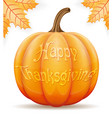 pumpkin thanksgiving vector image vector image