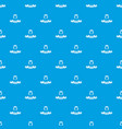 queen pattern seamless blue vector image
