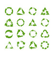 reuse icons circles and triangles with arrows vector image vector image