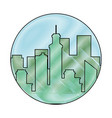 scribble city view vector image vector image