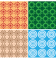seamless bright geometric textures vector image