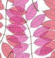 Seamless pattern of rowan leaves vector image