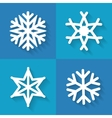 Set of flat snowflakes icons vector image vector image