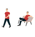 set of male characters in casual clothes vector image vector image