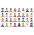 set people avatar icons vector image vector image