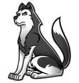Siberian husky dog vector image vector image