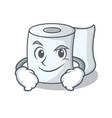 smirking tissue character cartoon style vector image vector image