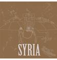 Syria landmarks Retro styled image vector image vector image