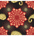 Vintage seamless dark floral pattern vector image vector image