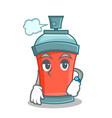 waiting aerosol spray can character cartoon vector image