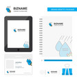 water control business logo tab app diary pvc vector image
