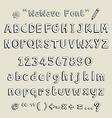 wawave font vector image