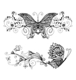 Decorative Butterflies Set vector image