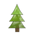 drawing pine tree forest natural environment vector image
