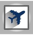 Flat plane icon vector image