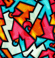 graffiti seamless pattern with grunge effect vector image