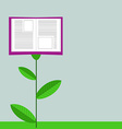 Concept of Growing Education Book Like Flower vector image