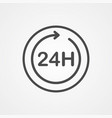 24 hours icon sign symbol vector image