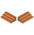 3d design for wooden steps vector image vector image