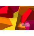 Abstract background with overlapping red and vector image vector image