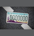 arizona auto license plate on the asphalt vector image