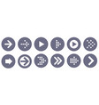 arrow icon set vector image vector image