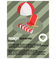 beach color isometric poster vector image