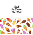 best ice cream promo poster vector image vector image