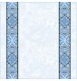 blue colour lace border stripe in ornate floral vector image