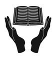 Book donation icon in black style isolated on vector image vector image