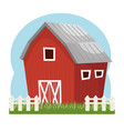 building stable farm isolated icon vector image vector image