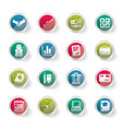 business and office icons over colored background vector image vector image
