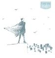 Businessman standing city opportunities concept vector image vector image