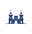 castle building icon template vector image