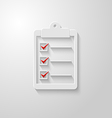 Check list icon 2 vector image vector image
