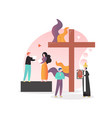 christian religion concept for web banner vector image