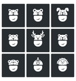 Christmas hats Icons Set vector image vector image