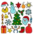 Christmas Patch Set vector image