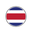 circle costa rica flag with icon isolated on vector image vector image
