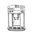 coffee maker machine front view monochrome vector image