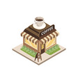 coffee shop building on white vector image