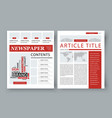 corporate magazine template front page vector image
