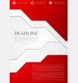 Corporate material red tech flyer design vector image vector image