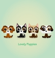 Cute funny lovely puppies vector image vector image