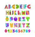 english alphabet in summer style vector image vector image