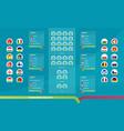 european 2020 match schedule tournament bracket vector image vector image