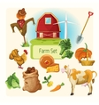 Farm decorative set vector image vector image