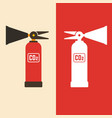 fire extinguisher flat and vector image vector image