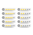 five stars rating composition vector image