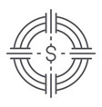 funds hunting thin line icon finance and banking vector image vector image